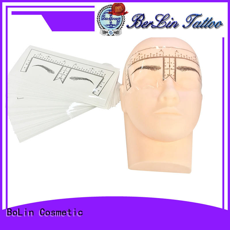 practial eyebrow measuring tool promotion for artists