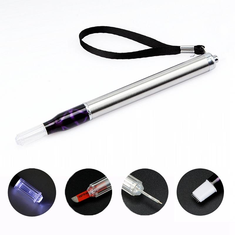 Multifunctional Microblade Eyebrow Manual Tattoo Pen With Light BL-00286