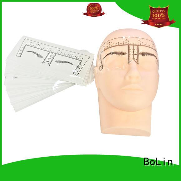 beginner ruler lip tattoo practice skin eyebrow BoLin