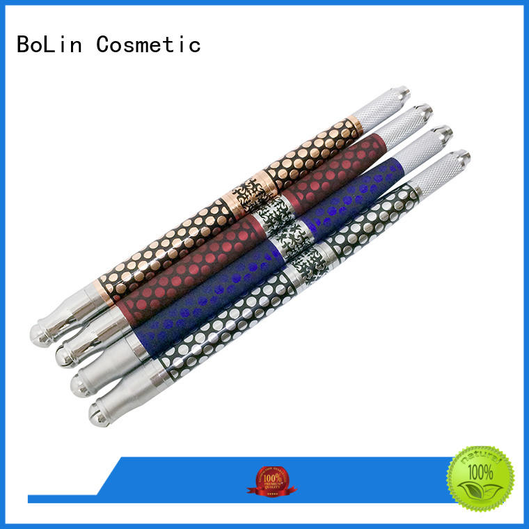 3d silver sided two BoLin Brand manual tattoo pen supplier