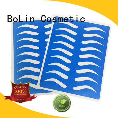 BoLin Brand blue blank tattoo practice skin eyeliner factory