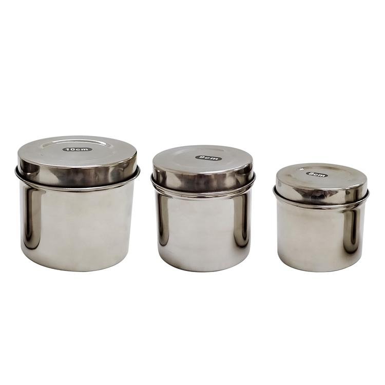 3 Sizes Permanent Makeup Stainless Steel Canisters BL-355