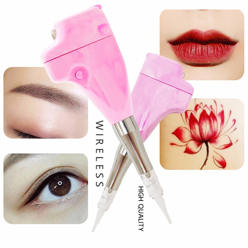 product-BoLin-Pink Color Marbled Cosmetic Ombre Powder Eyebrow Tattoo Machine Pen-img