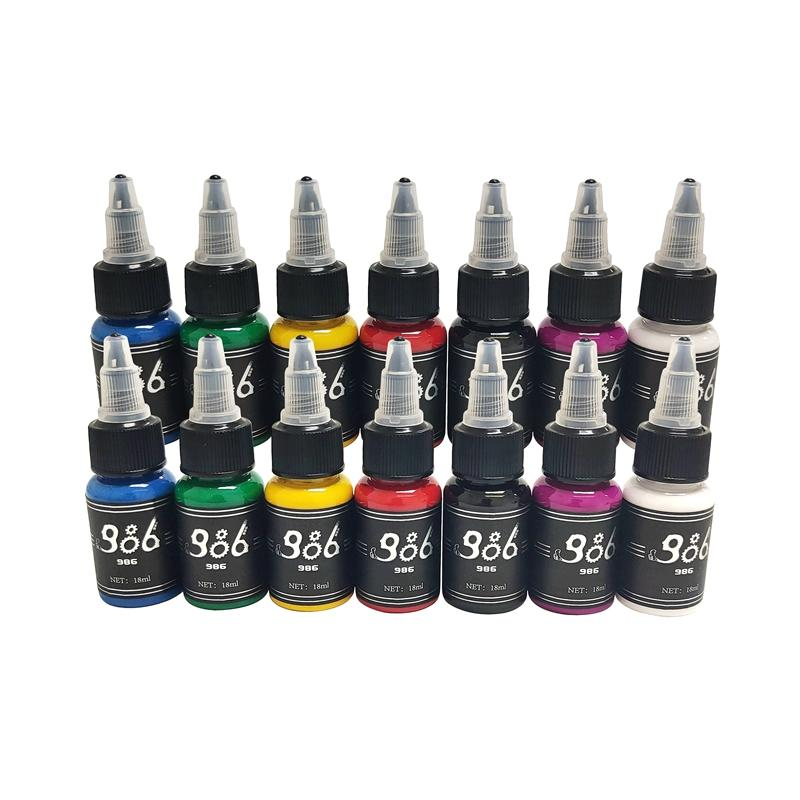 986 Natural Original 14 Different Body Tattoo Ink Color BL-509