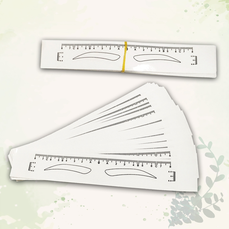 product-BoLin-50 PCS Disposable Sticker Eyebrow Ruler Measuring BL-219-img