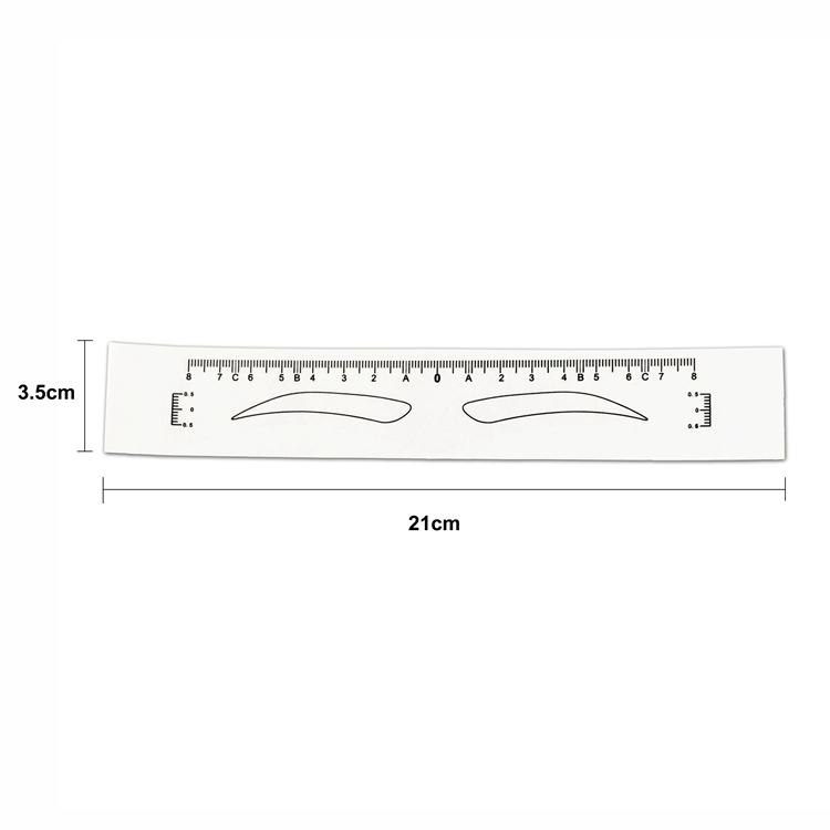 product-50 PCS Disposable Sticker Eyebrow Ruler Measuring BL-219-BoLin-img