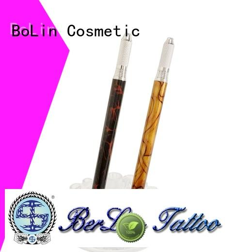 BoLin comfortable manual eyebrow tattoo pen directly price for beauty academy